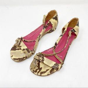 KATE SPADE | Snakeskin Leather Sandals